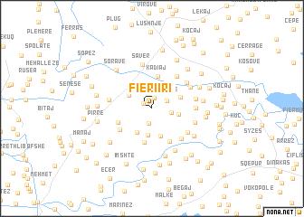map of Fieri i Ri