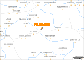 map of Filiadhón