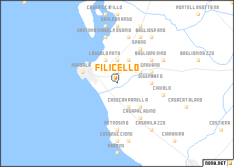 map of Filicello