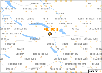map of Filipów