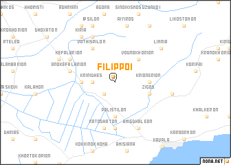 map of Fílippoi