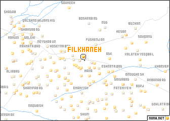 map of Fīlkhāneh