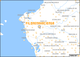map of Filomena Hacienda
