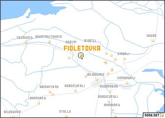 map of Fioletovka