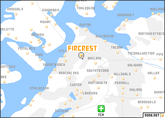 map of Fircrest