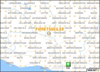 map of Firmetsweiler