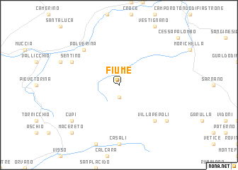 map of Fiume