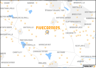 map of Five Corners