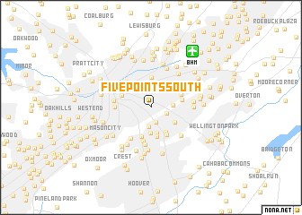 map of Five Points South