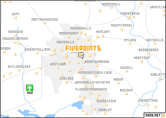 map of Five Points