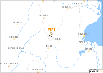 Fizi Congo Democratic Republic of the map  nonanet