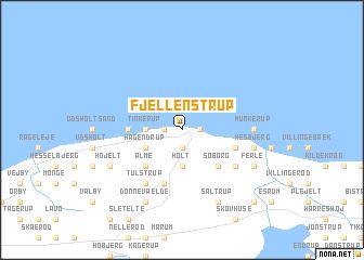 map of Fjellenstrup