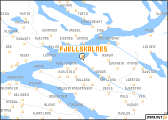 map of Fjellskålnes