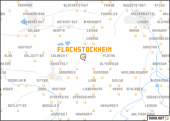map of Flachstöckheim