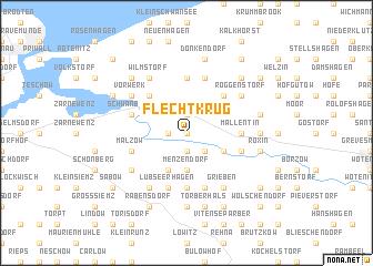 map of Flechtkrug