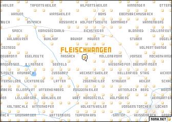 map of Fleischwangen