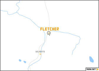 map of Fletcher