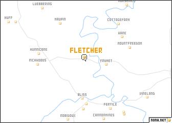 map of Fletcher