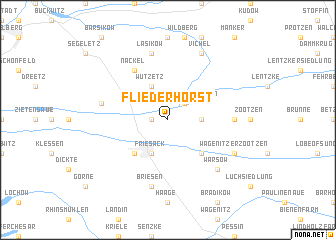 map of Fliederhorst