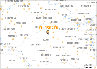 map of Flinsbach