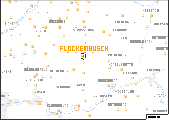 map of Flockenbusch