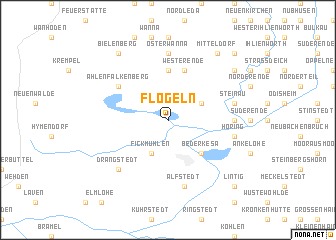 map of Flögeln