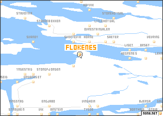 map of Flokenes