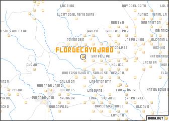 map of Flor de Cayajabo