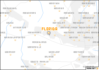 Florida (South Africa) map   nona.net
