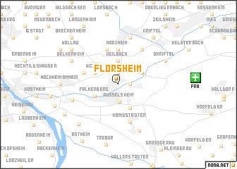 map of Flörsheim