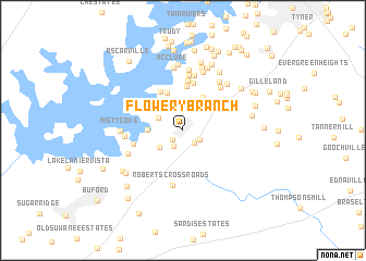 map of Flowery Branch