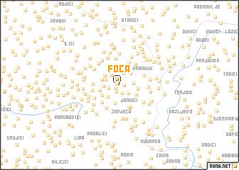map of Foča