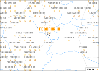 map of Fodonkaha