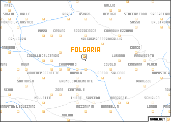 map of Folgaria