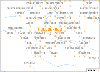 map of Folguerajú