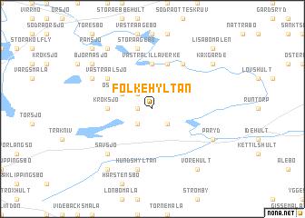 map of Folkehyltan