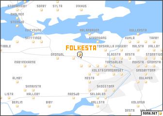 map of Folkesta