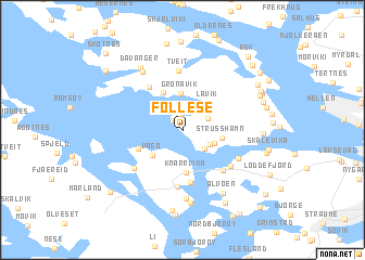 map of Follese