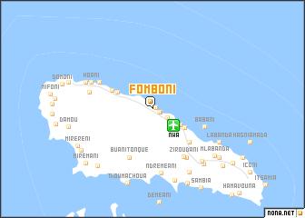 Fomboni Comoros map nonanet