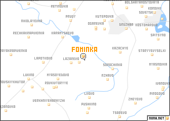 map of Fominka
