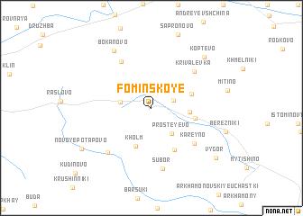 map of Fominskoye