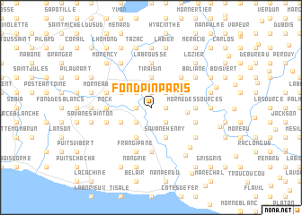 map of Fond Pin Paris