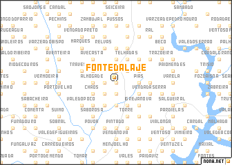 map of Fonte da Laje