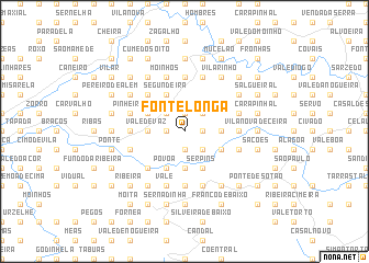 map of Fonte Longa