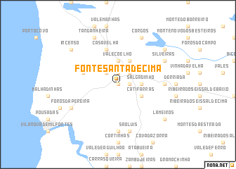 map of Fonte Santa de Cima