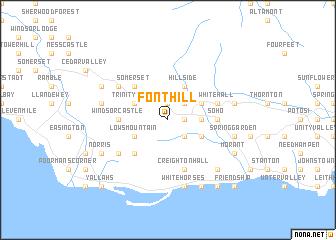 Font Hill Jamaica map  nonanet