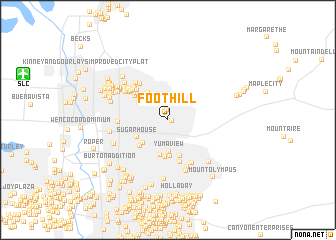 map of Foothill