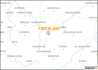 map of Forcalhos