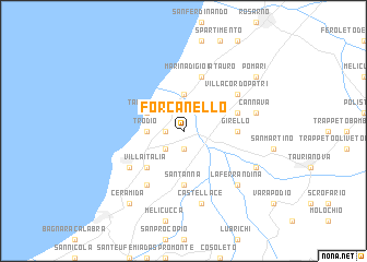 map of Forcanello