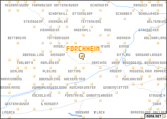 map of Forchheim